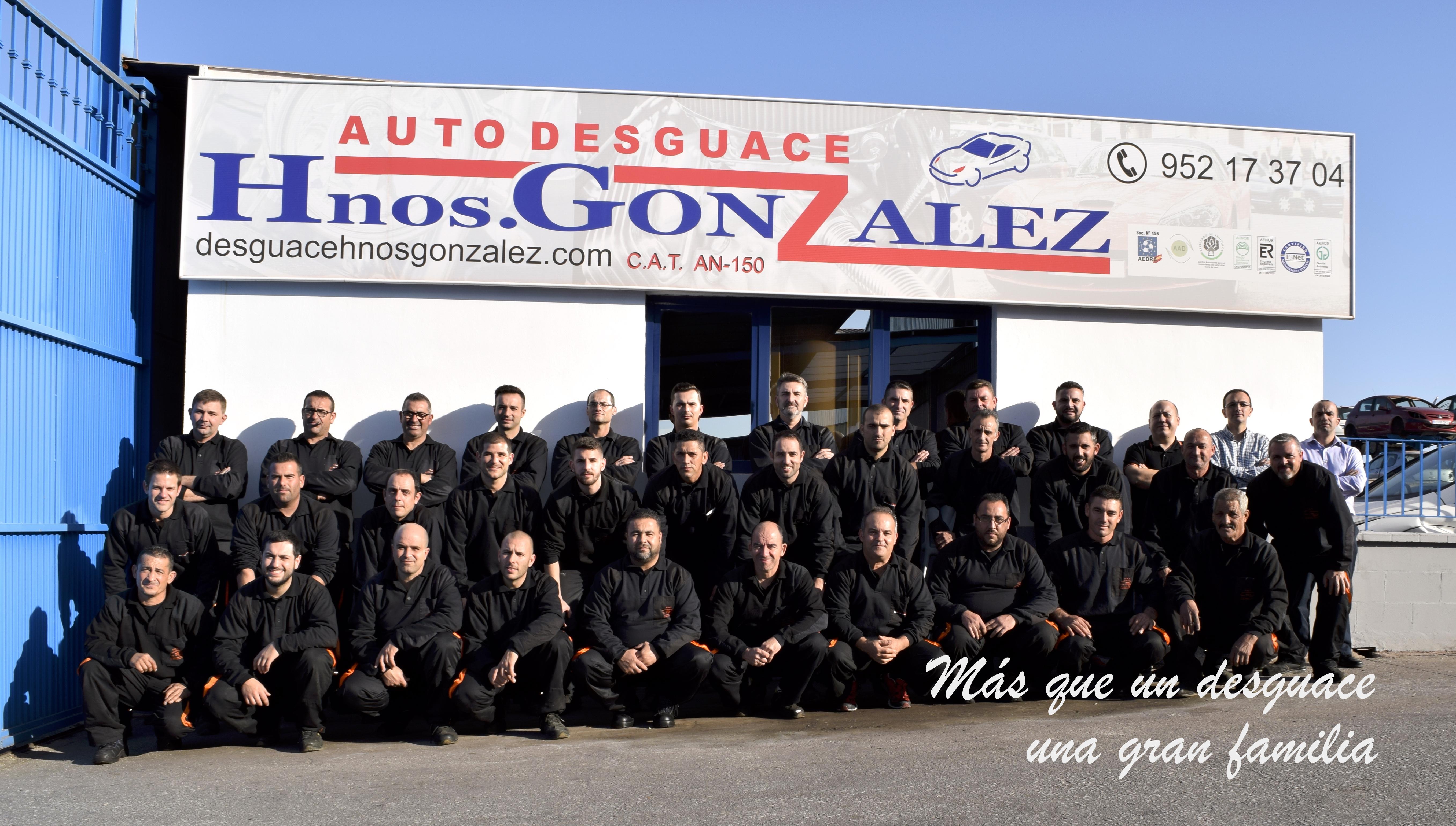 Foto de familia, plantilla de la empresa en el 2015